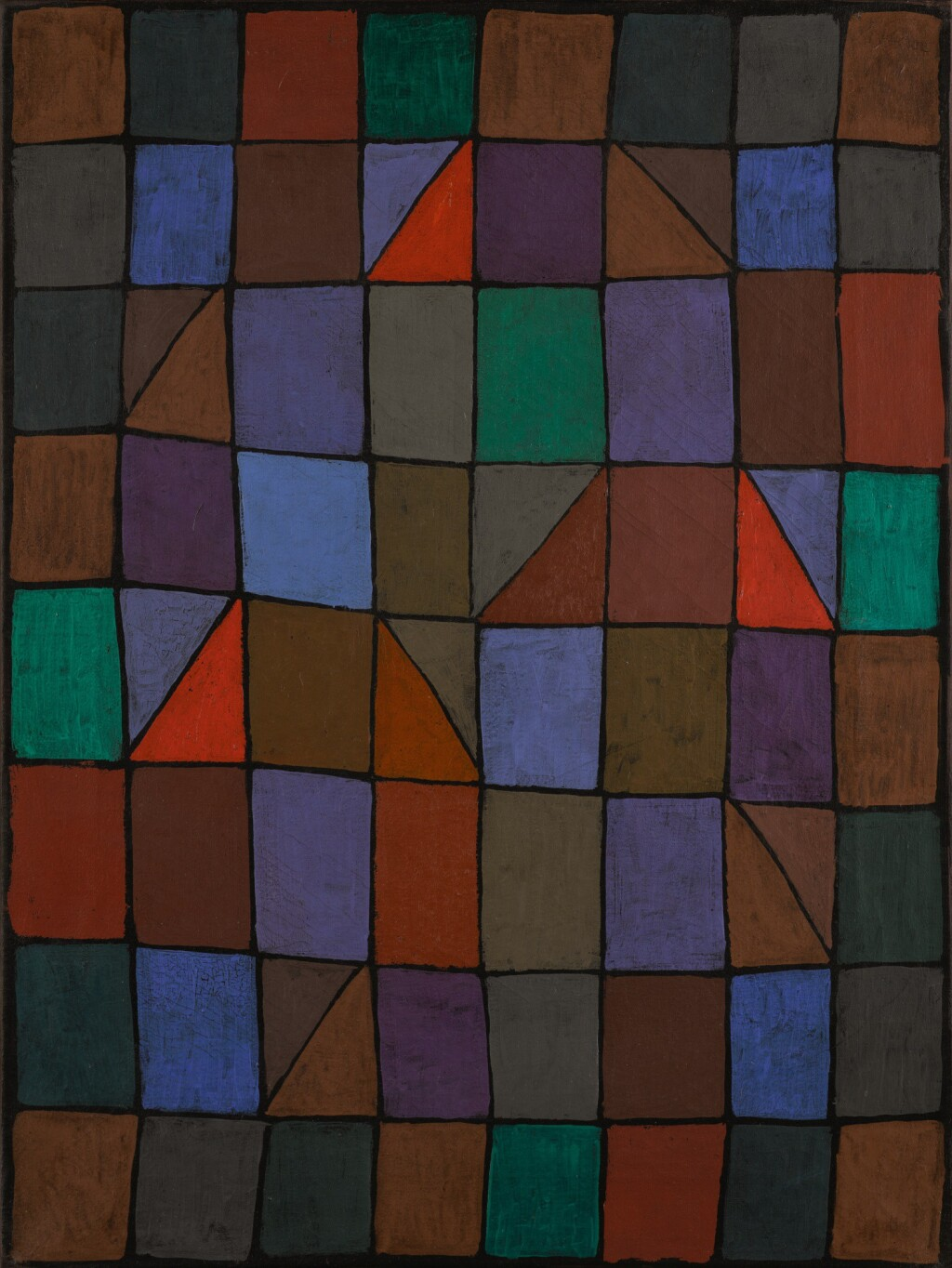 PAUL KLEE | ABEND IN N (EVENING IN N) OR ARCHITEKTUR ABENDS (ARCHITECTURE IN THE EVENING)