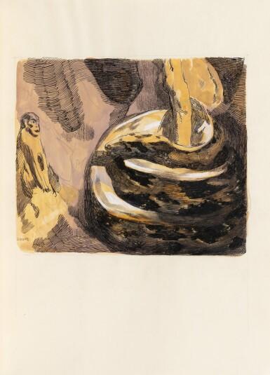 View 5. Thumbnail of Lot 128. Le Livre de la Jungle, 1919. Exceptionnel ex. avec laque de Dunand et plaque en argent de Jouve.
