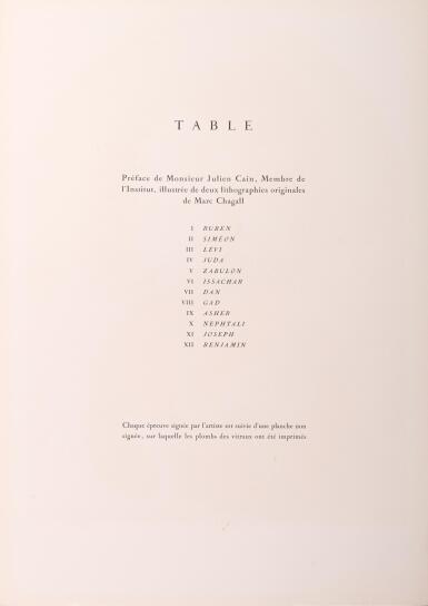 View 6. Thumbnail of Lot 8. AFTER MARC CHAGALL   DOUZE MAQUETTES DE VITRAUX POUR JÉRUSALEM (M. CS. 12-23; C. Bks. 57).