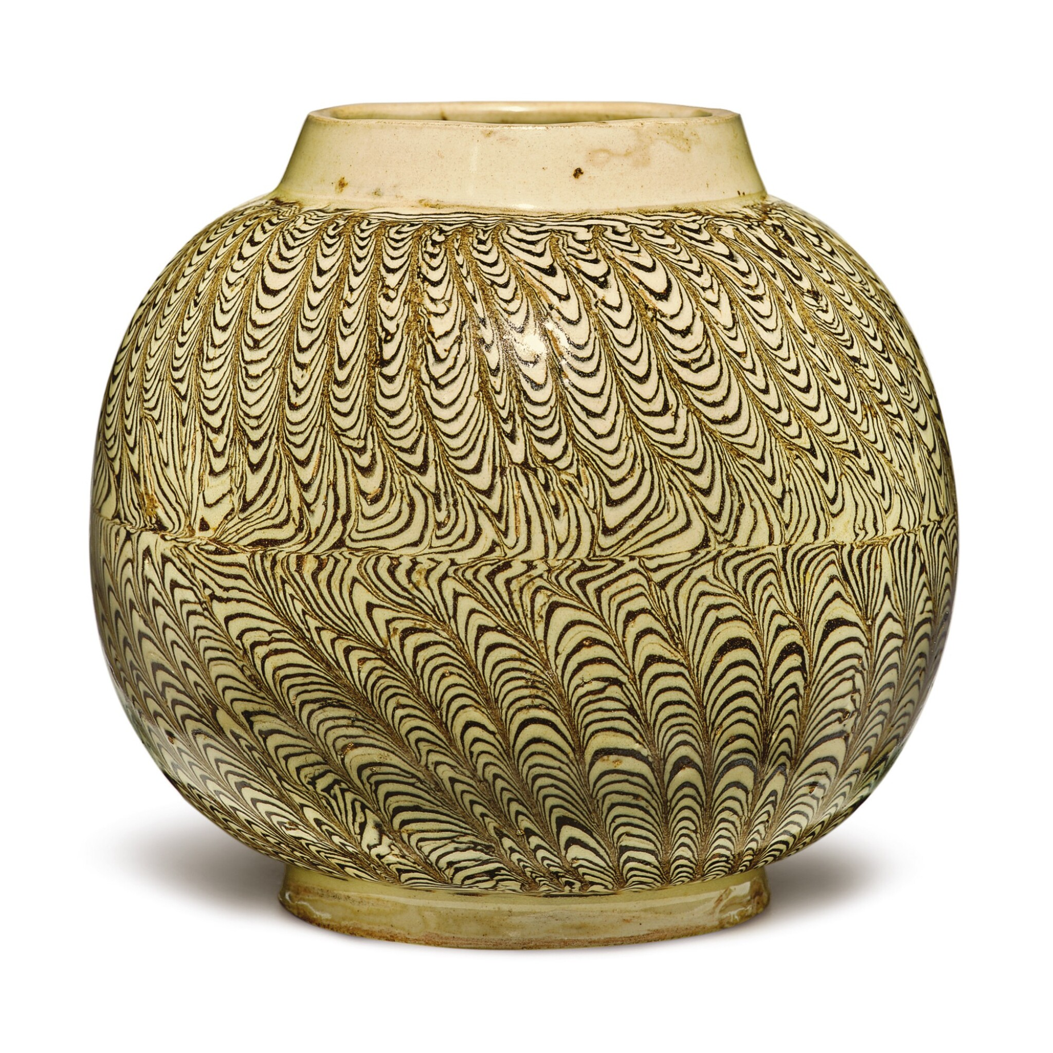 View 1 of Lot 706. A RARE MARBLED JAR,  NORTHERN SONG DYNASTY.