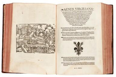 View 2. Thumbnail of Lot 259. Vergil, Opera Virgiliana, Lyon, 1529, later mottled calf.