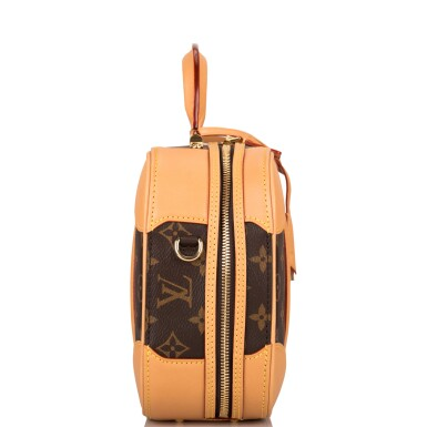 View 6. Thumbnail of Lot 85. LOUIS VUITTON   MONOGRAM VALISETTE MINI LUGGAGE PM IN COATED CANVAS AND VACHETTA LEATHER WITH GOLDEN BRASS HARDWARE.