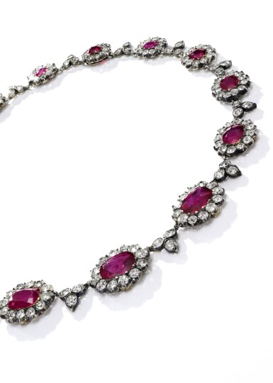 CHAUMET [尚美] | FINE RUBY AND DIAMOND NECKLACE, CIRCA 1905 [紅寶石配鑽石項鏈,約1905年]