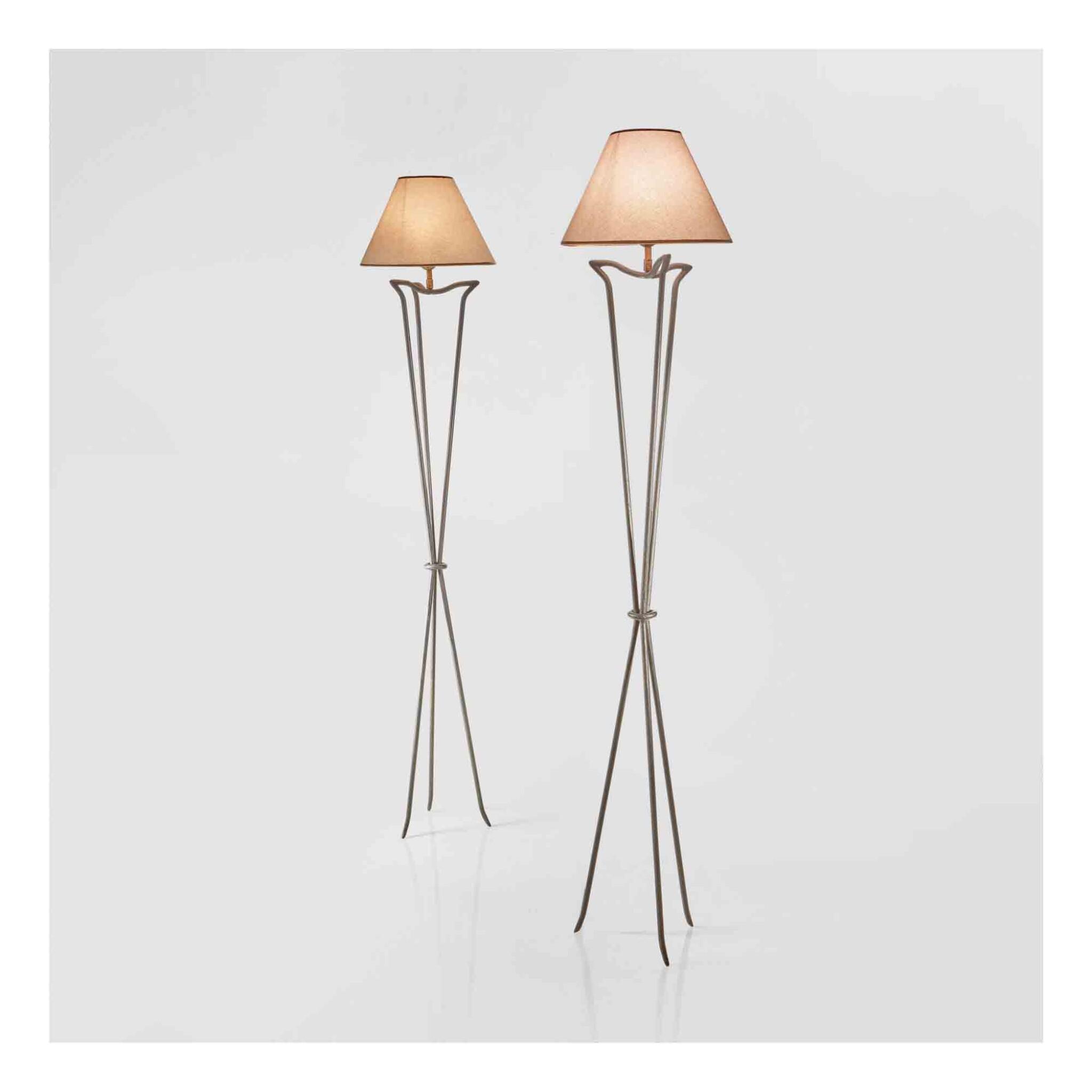 View 1 of Lot 349. Pair of Floor Lamps.