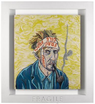 View 2. Thumbnail of Lot 8. Portrait of the Artist Contemplating, Van Gogh - No. 6.