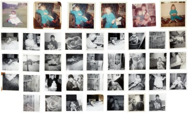 View 2. Thumbnail of Lot 41. Sylvia Plath   Collection of 39 family photographs annotated by her, 1960-62.