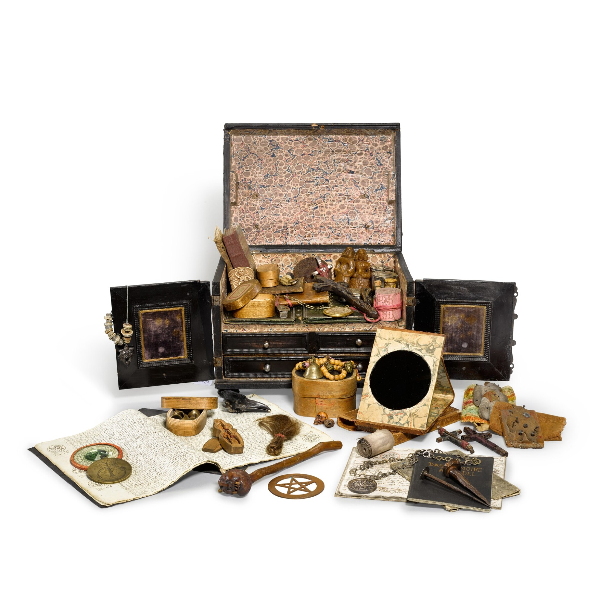 View full screen - View 1 of Lot 170. An extraordinary assemblage of objects pertaining to the occult and witchcraft, 17th to 20th century.