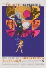 BARBARELLA (1968) STYLE B POSTER, US, SIGNED BY JANE FONDA.