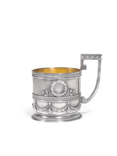 A Fabergé  silver tea glass holder, Moscow, 1908-1917