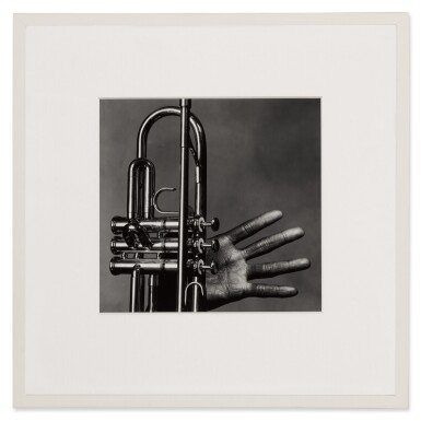 View 2. Thumbnail of Lot 8. 'Miles Davis, Hand and Trumpet, New York' .