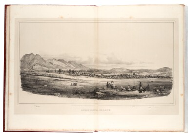 View 1. Thumbnail of Lot 106. Stackelberg. La Grèce. Vues pittoresques et topographiques. [1829]-1834. folio. modern red morocco. The Blackmer copy.