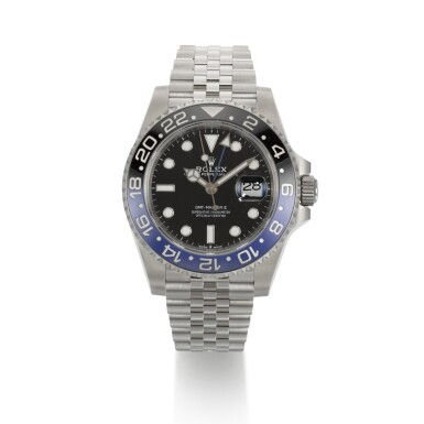 """View 1. Thumbnail of Lot 357. ROLEX   GMT-MASTER """"BATGIRL"""", REF 126710BLNR, STAINLESS STEEL DUAL-TIME WRISTWATCH WITH DATE AND BRACELET, CIRCA 2019."""