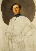 LOMBARD SCHOOL, 19TH CENTURY  |  PORTRAIT OF AN AUSTRIAN OFFICER, THREE-QUARTER LENGTH, UNFINISHED