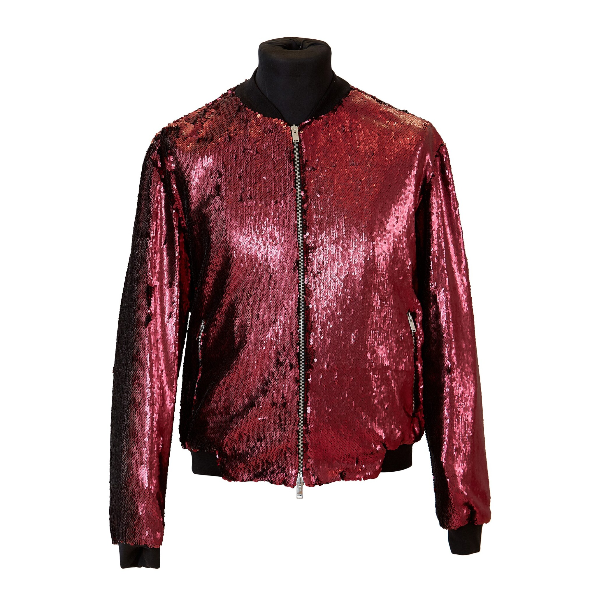 View full screen - View 1 of Lot 9. Mick Jagger's 'No Filter' European Tour Red Sequin Jacket, 2017.