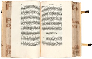 View 1. Thumbnail of Lot 6. Plato. Omnia Platonis opera. Venice, Aldus, 1513. modern pigskin, the Garden copy.