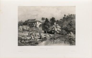 View 2. Thumbnail of Lot 216. VAILLANT. Voyage autour du monde... Paris, Arthus Bertrand, 1840. 16 vol. Reliure moderne, demi-veau..