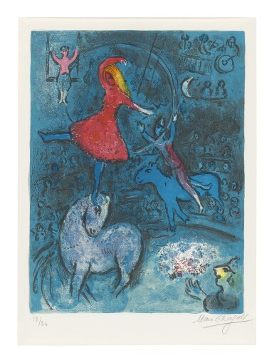 View 1. Thumbnail of Lot 22. MARC CHAGALL   THE CIRCUS: ONE PLATE (M. 493; SEE C. BKS. 68).