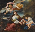 The angel appearing to Hagar and Ishmael in the desert