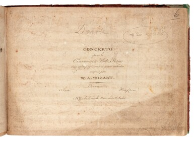 View 5. Thumbnail of Lot 60. W.A. Mozart, Two volumes of first and early editions of the piano concertos etc., C18th and early C19th.