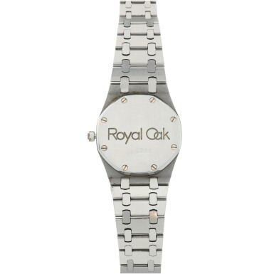 View 5. Thumbnail of Lot 112. REFERENCE 4100 ROYAL OAK A STAINLESS STEEL AUTOMATIC WRISTWATCH WITH DATE AND BRACELET, CIRCA 1975.