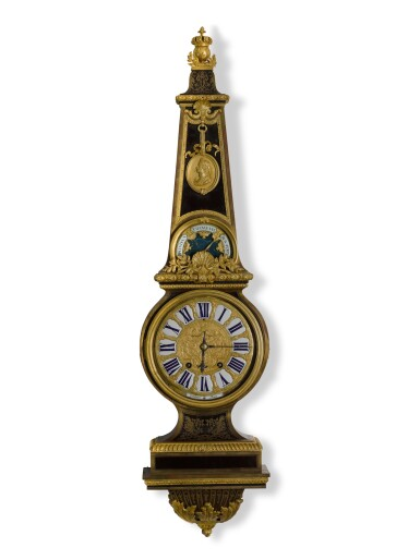 View 1. Thumbnail of Lot 28. A LOUIS XIV-STYLE GILT-MOUNTED TURTLESHELL CLOCK/BAROMETER IN THE MANNER OF ANDRÉ-CHARLES BOULLE, CIRCA 1850.