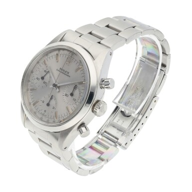 View 3. Thumbnail of Lot 2. ROLEX | REFERENCE 6238 'PRE-DAYTONA'  A STAINLESS STEEL CHRONOGRAPH WRISTWATCH WITH BRACELET, CIRCA 1964.