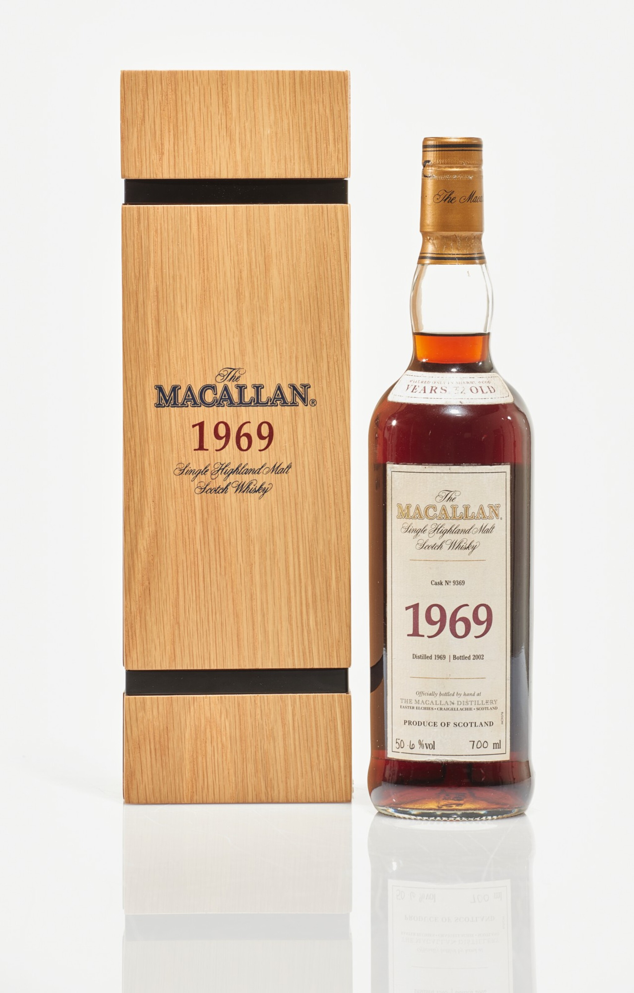 View full screen - View 1 of Lot 6. The Macallan Fine & Rare 32 Year Old 50.6 abv 1969 (1 BT70cl).