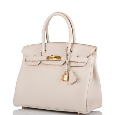 Hermès Beton Birkin 30cm of Togo Leather with Gold Hardware