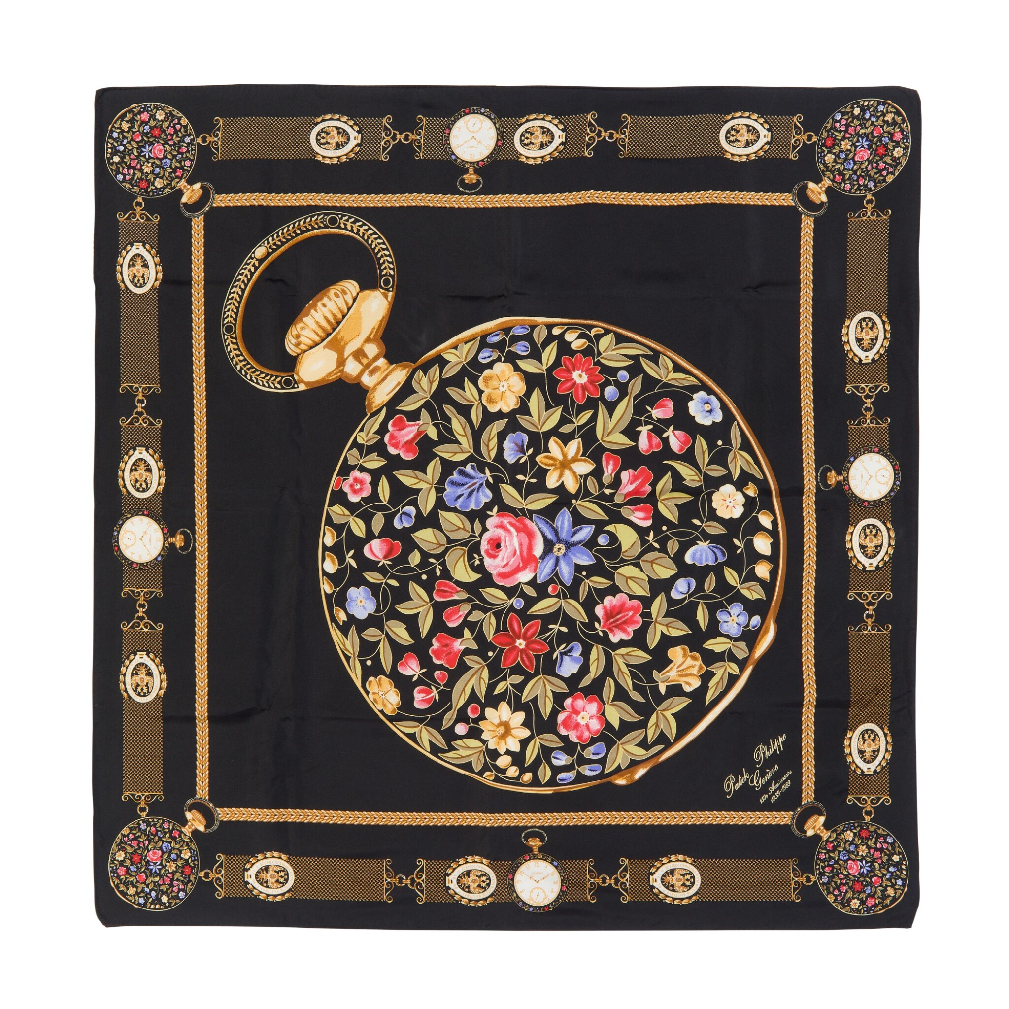 View full screen - View 1 of Lot 127. PATEK PHILIPPE   A PAIR OF SILK SCARVES .