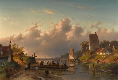 View 1. Thumbnail of Lot 85. Evening at the Riverbank.
