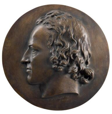 THOMAS WOOLNER | RELIEF ROUNDEL WITH THE PROFILE OF ALFRED, LORD TENNYSON