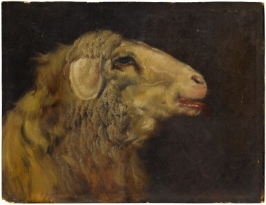 View 1. Thumbnail of Lot 111. Sold Without Reserve | ARPAD BALINT | A PROFILE HEAD STUDY OF A LAMB.
