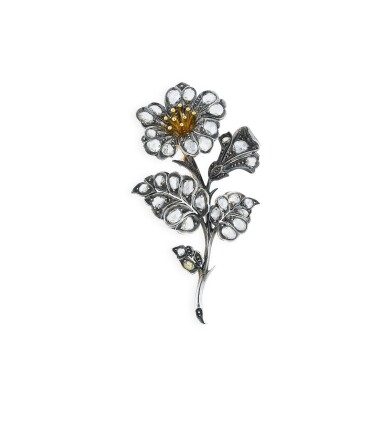 View 1. Thumbnail of Lot 1. BROCHE TREMBLEUSE DIAMANTS | DIAMOND BROOCH, 'EN TREMBLANT' .