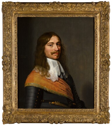 View 3. Thumbnail of Lot 29. JACOB WILLEMSZ. DELFF THE YOUNGER  |  PORTRAIT OF MICHIEL PAUW (1617–1658), HALF-LENGTH, IN ARMOUR, A SASH AND A WHITE COLLAR.