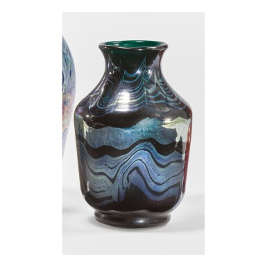 View 1. Thumbnail of Lot 16. TIFFANY STUDIOS | DECORATED VASE.