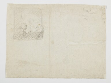 View 2. Thumbnail of Lot 71. Recto: The Death of Lucretia Verso: A compositional study with two figures.