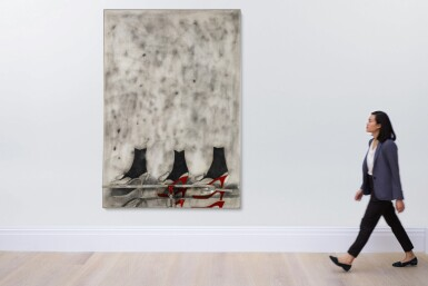 View 4. Thumbnail of Lot 862. JIM DINE | THE RED VISE.