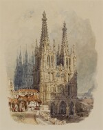 MYLES BIRKET FOSTER | The West front of the Cathedral, Burgos, Spain