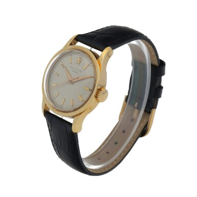 View 2. Thumbnail of Lot 85. Ref. 2555 Yellow Gold Wristwatch Made in 1955 | 百達翡麗 2555型號黃金腕錶,1955年製.