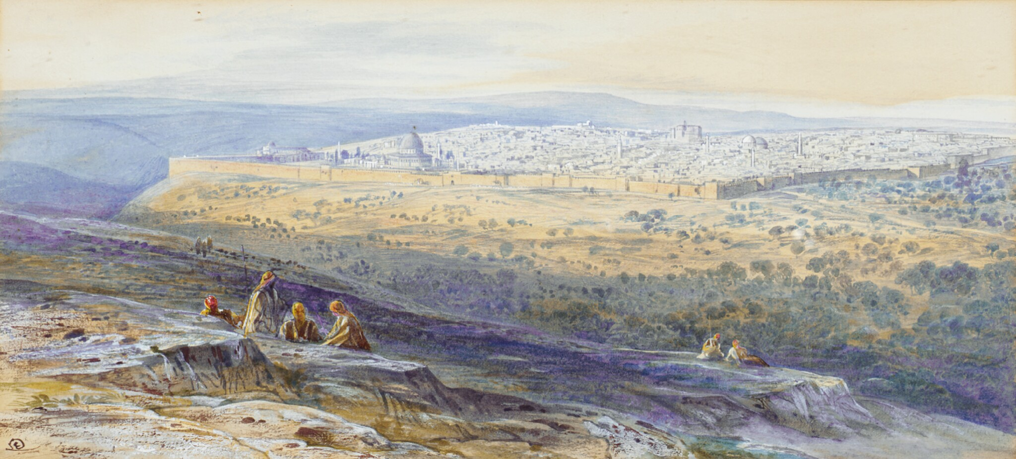 EDWARD LEAR, R.S.W. | Jerusalem from the Mount of Olives