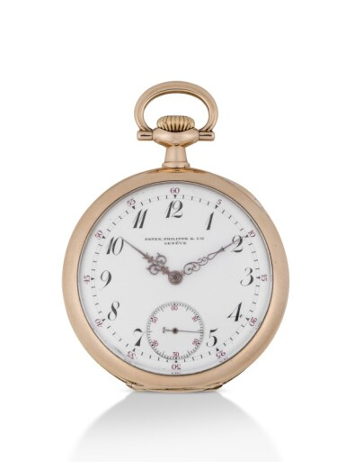 PATEK PHILIPPE | YELLOW GOLD OPEN-FACED WATCH  MADE IN 1907