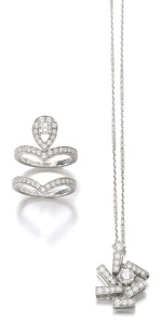 TWO DIAMOND RINGS, 'JOSÉPHINE AIGRETTE' AND A DIAMOND NECKLACE, CHAUMET