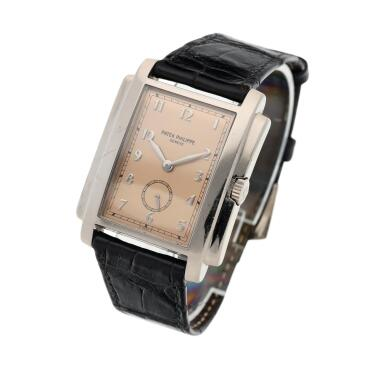 View 2. Thumbnail of Lot 141. Reference 5024 Gondolo  A white gold rectangular wristwatch, Circa 2001 .