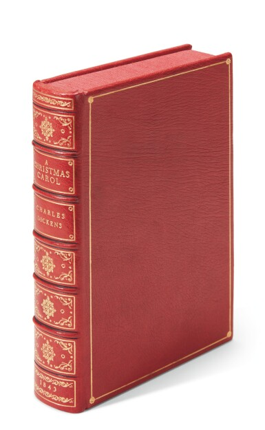 Dickens, A Christmas Carol, 1844, first edition, red and green title-page, yellow endpapers, Stave I