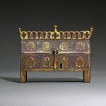 French, Limoges, second half 13th century | Reliquary châsse with Angels