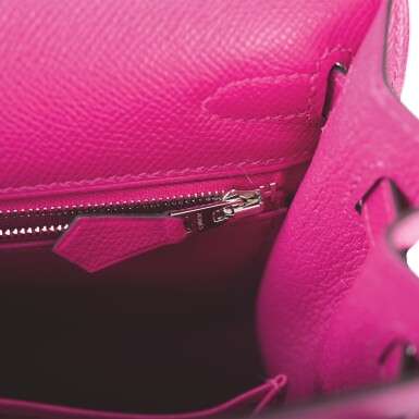 Hermès Rose Pourpre Sellier Kelly 25cm of Epsom Leather with Palladium Hardware