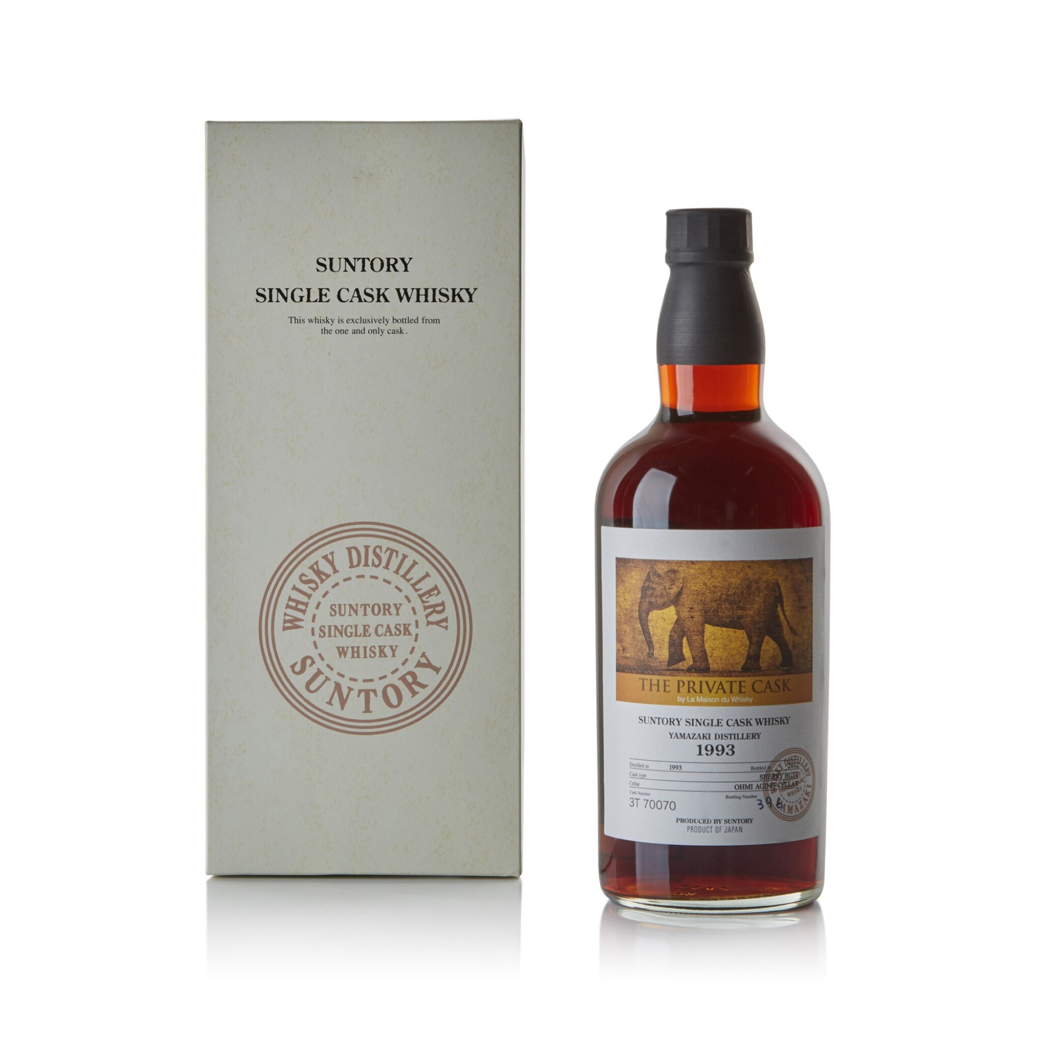 View full screen - View 1 of Lot 236. The Yamazaki LMDW Private Cask #3T70070 57.7 abv 1993 .
