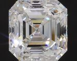 A 3.04 Carat Square Emerald-Cut Diamond, G Color, VVS2 Clarity