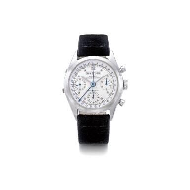 View 1. Thumbnail of Lot 1069. ROLEX   REF 6036, A STAINLESS STEEL TRIPLE CALENDAR CHRONOGRAPH WRISTWATCH, CIRCA 1952   勞力士  6036型號精鋼全日曆計時腕錶,年份約1952.