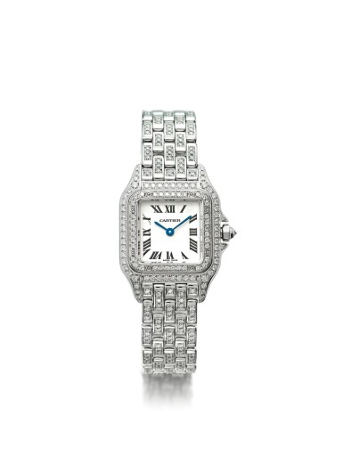 View 1. Thumbnail of Lot 35. CARTIER | REF 1660 PANTHÉRE, A LADY'S WHITE GOLD AND DIAMOND SET WRISTWATCH WITH BRACELET CIRCA 2010.